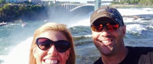 Lissa Poirot and her brother at Niagara Falls