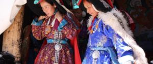 Ladakhi women in native dress